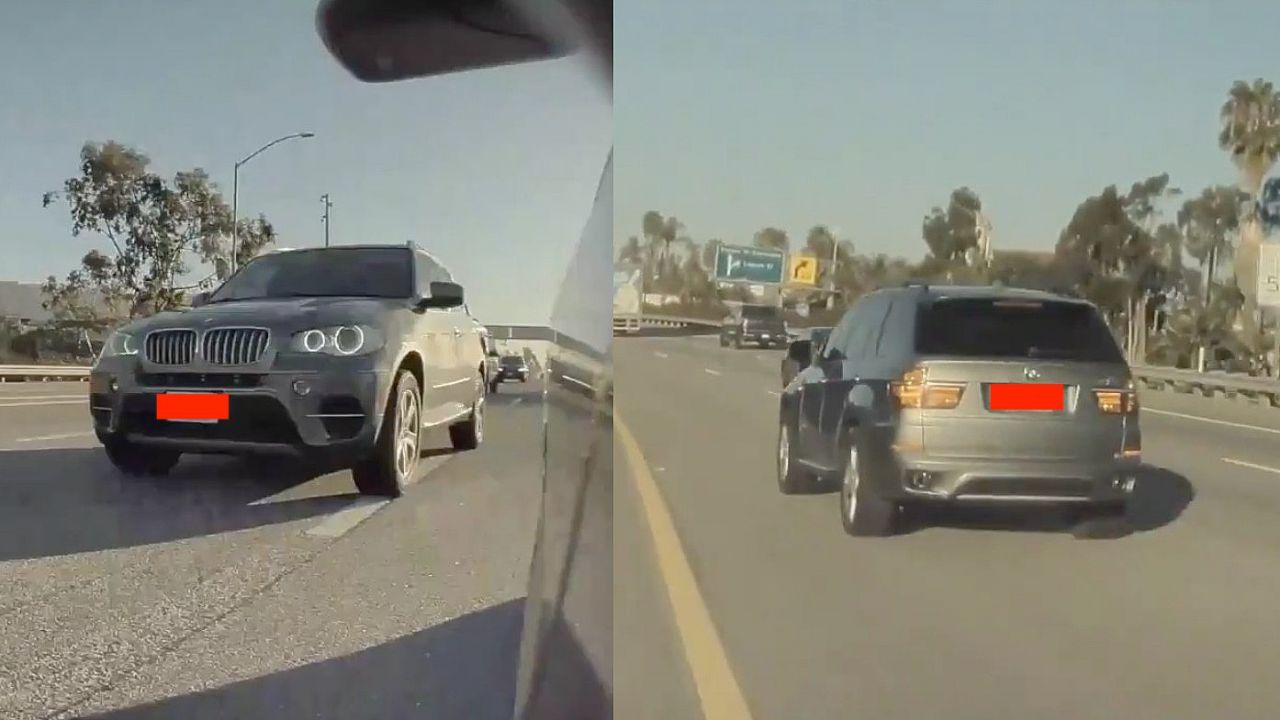 Tesla assalita da un SUV BMW: l'Autopilot salva la situazione