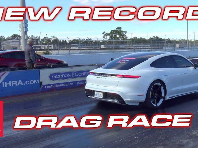 Tesla Model S contro Porsche Taycan Turbo S: infranto un nuovo record