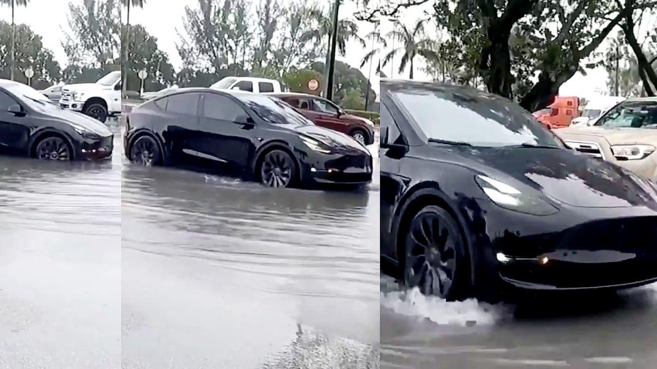 Tesla Model Y soccorre il proprietario nel bel mezzo di una tempesta