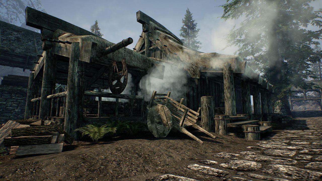 The Elder Scrolls V Skyrim ricreato con l'Unreal Engine 4