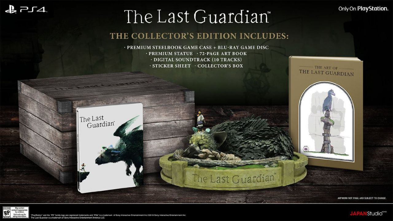 The Last Guardian: aperti i preordini per la Collector's Edition in Europa