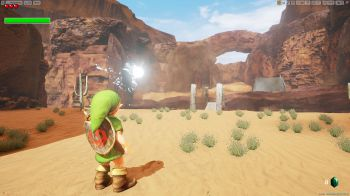 The Legend of Zelda Ocarina of Time: La Gerudo Valley ricreata con l'Unreal Engine 4