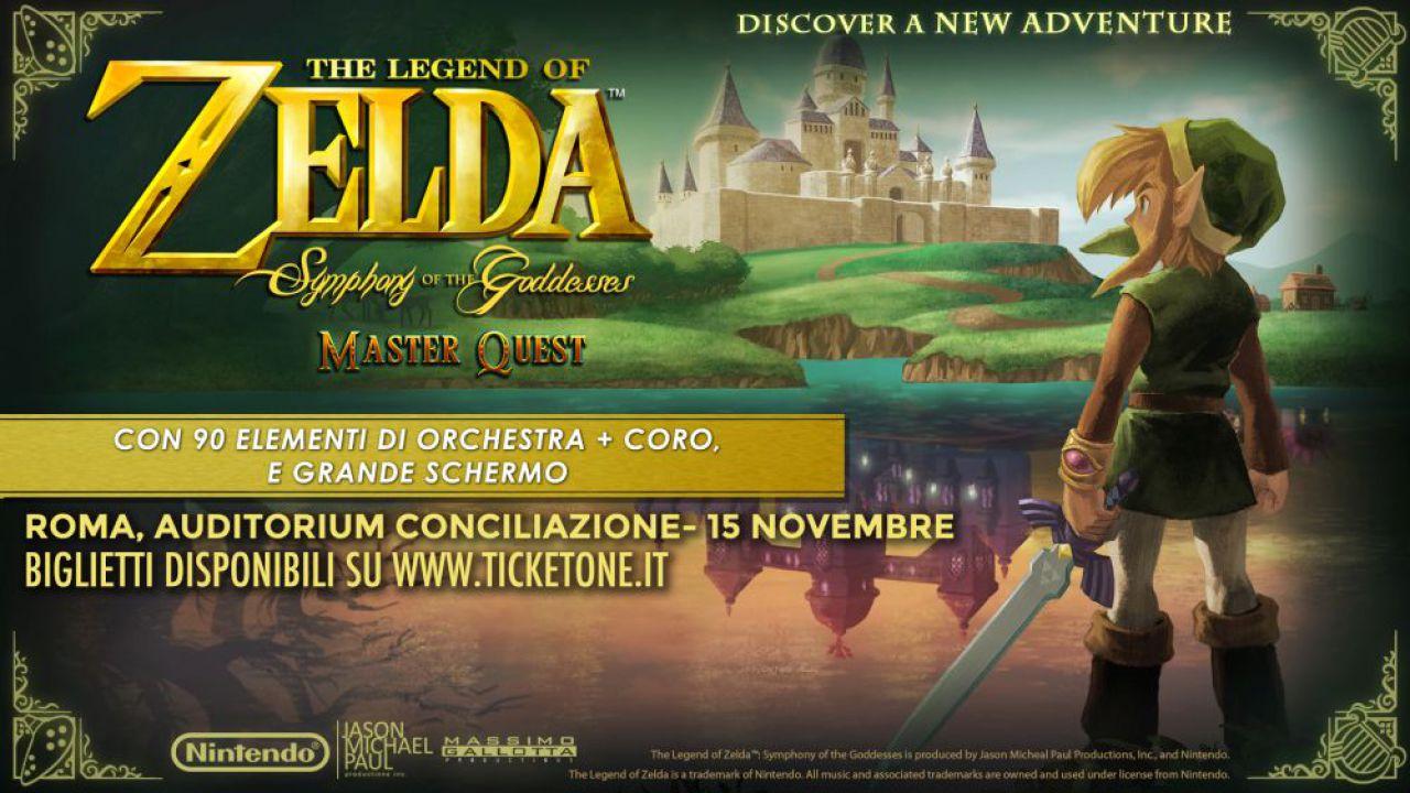 The Legend of Zelda Symphony of the Goddesses in scena a Roma il 15 novembre