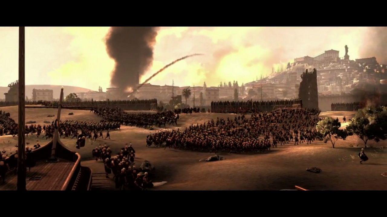 Total War Rome 2 - Cesare in Gallia: screenshot panoramico della battaglia di Alesia
