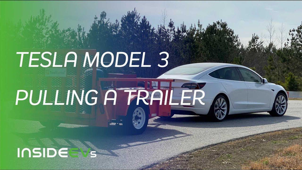 Trainare rimorchi con la vostra Tesla Model 3? Meglio non farlo, i consumi sono folli