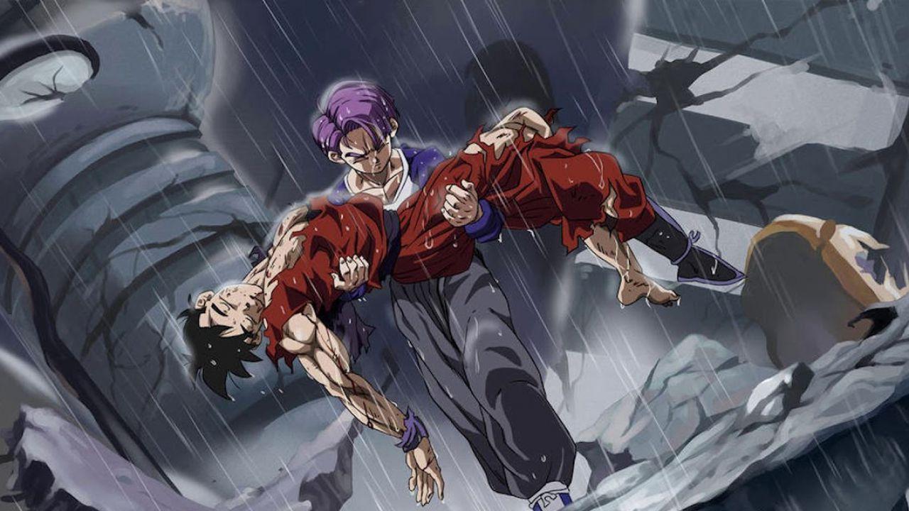 Trunks Super Saiyan God ricorda il suo maestro in una spettacolare fan art di Dragon Ball