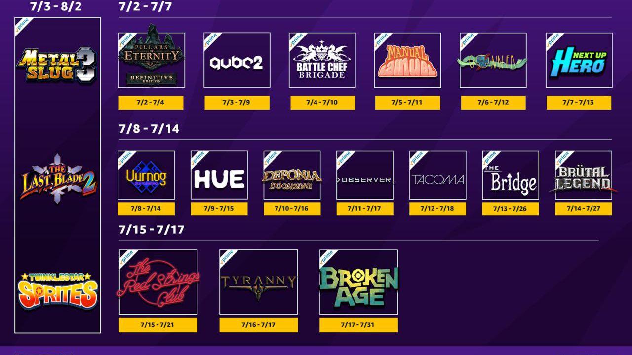 Twitch Prime: 21 giochi in regalo a luglio per tutti gli abbonati, ecco l'elenco completo