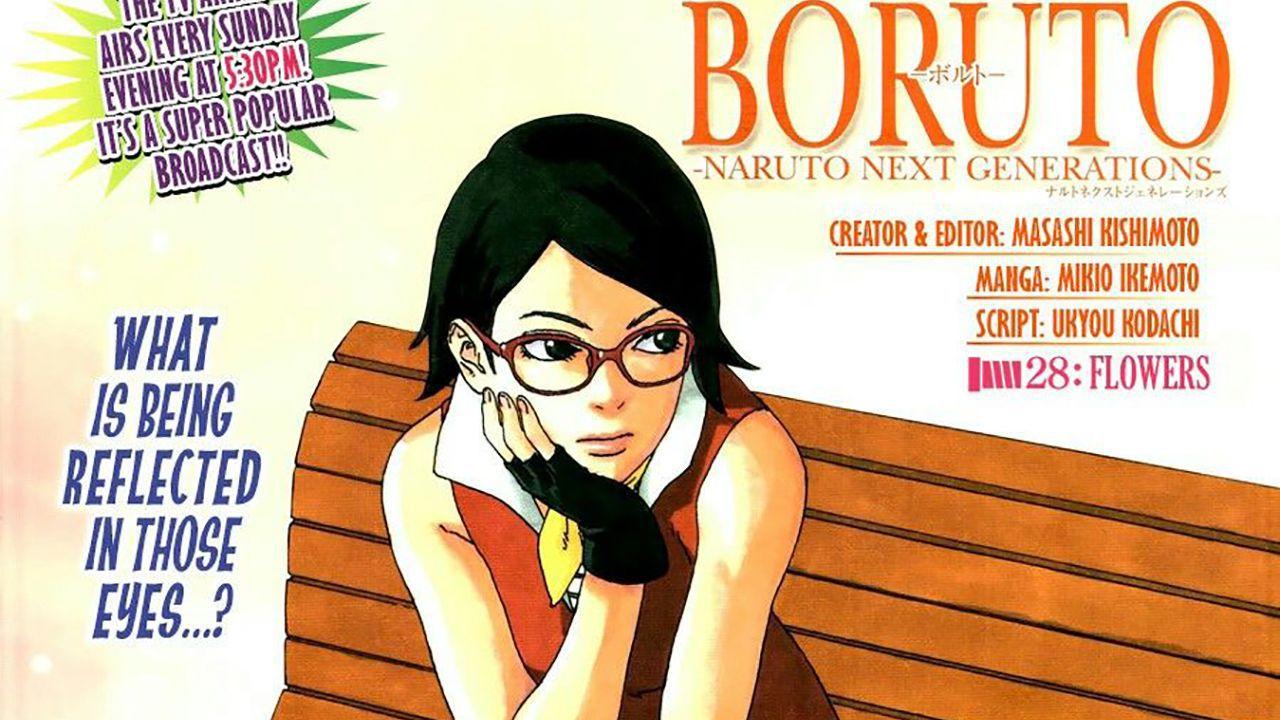 Un'affascinante Sarada è la protagonista della pagina a colori del capitolo 43 di Boruto