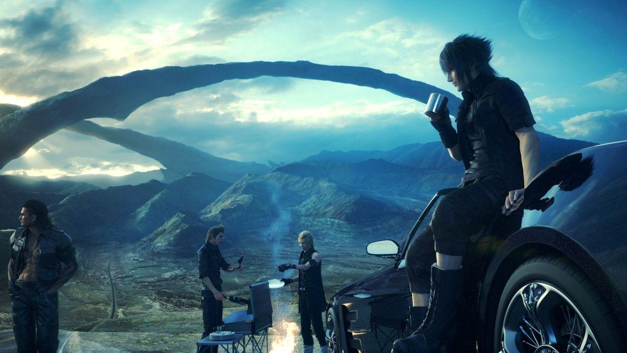 Un artwork natalizio e uno scatto ai lavori in corso per Final Fantasy XV