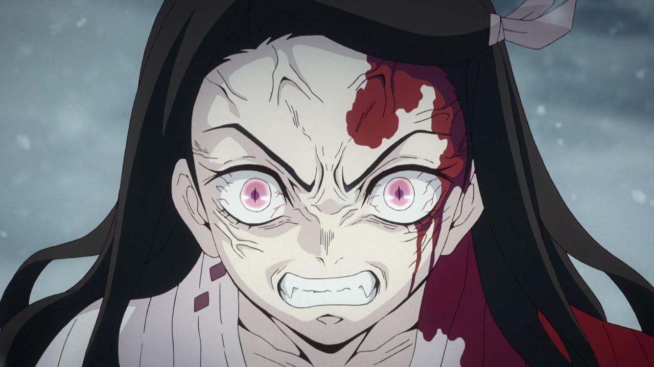 Un bellissimo artwork di Nezuko da Demon Slayer di Yoshitoshi ABe