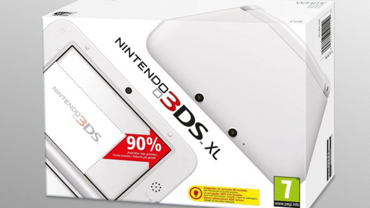 Un budle Nintendo 3DS XL bianco con Mario Kart 7 disponibile a Novembre