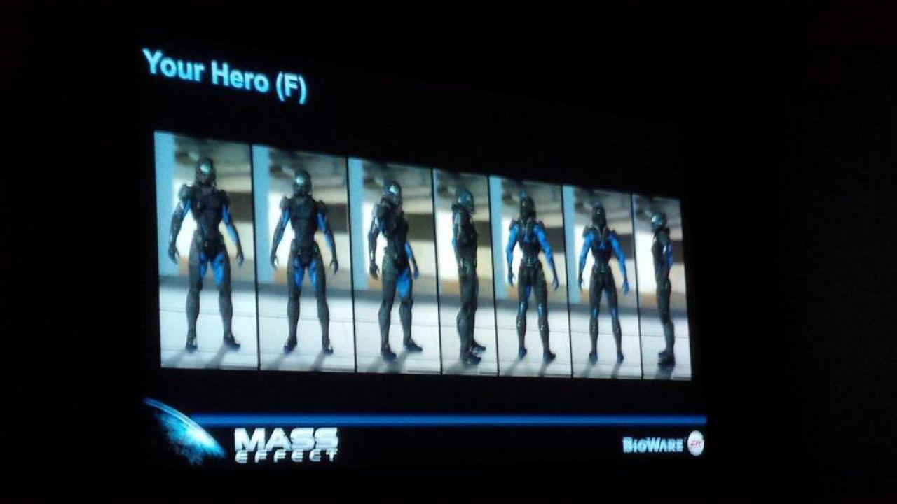 Un'immagine mostra i lavori di Mass Effect 4