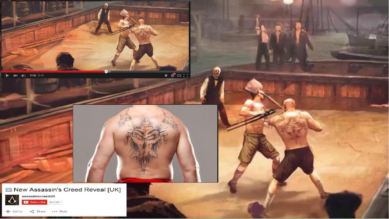 Un personaggio ispirato al wrestler Brock Lesnar compare nel trailer di Assassin's Creed Syndicate