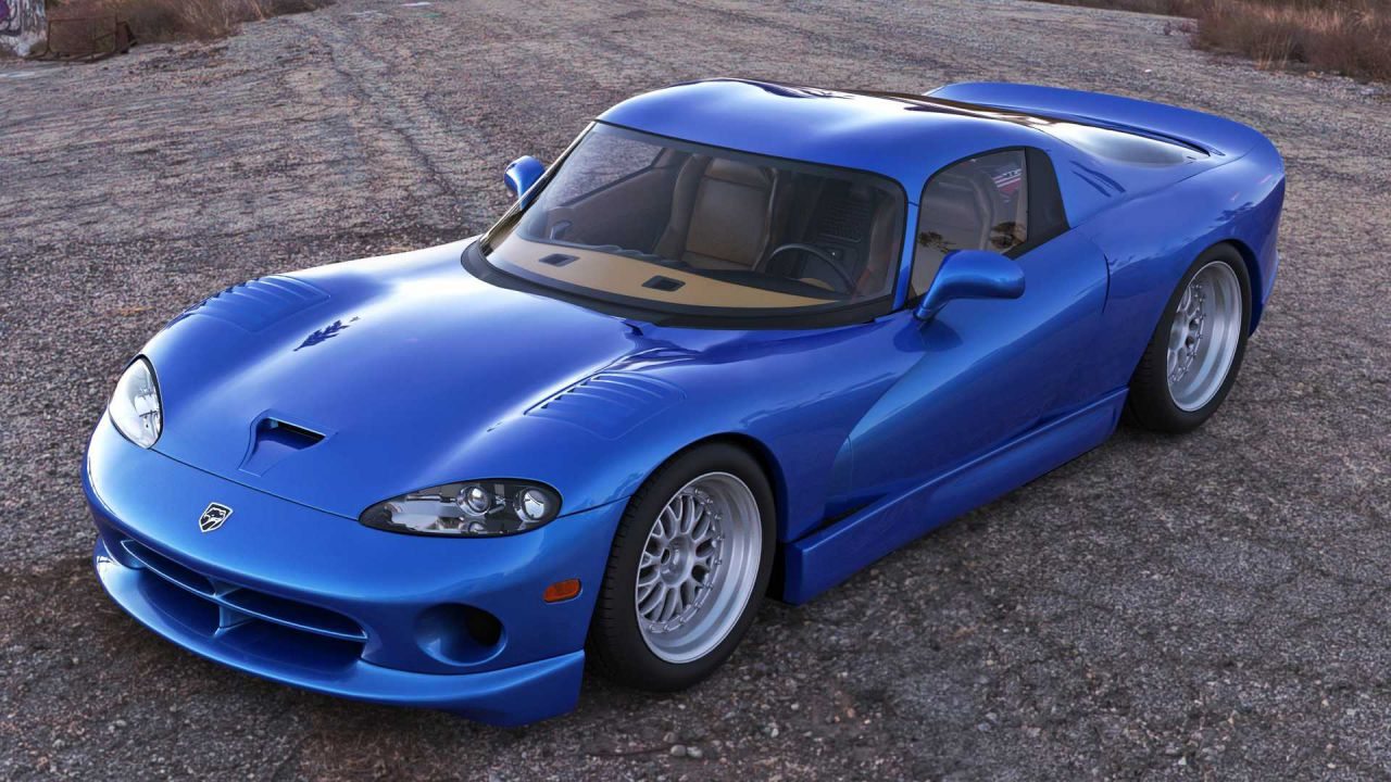 Un render mostra come sarebbe stata una Dodge Viper Mid-Engined