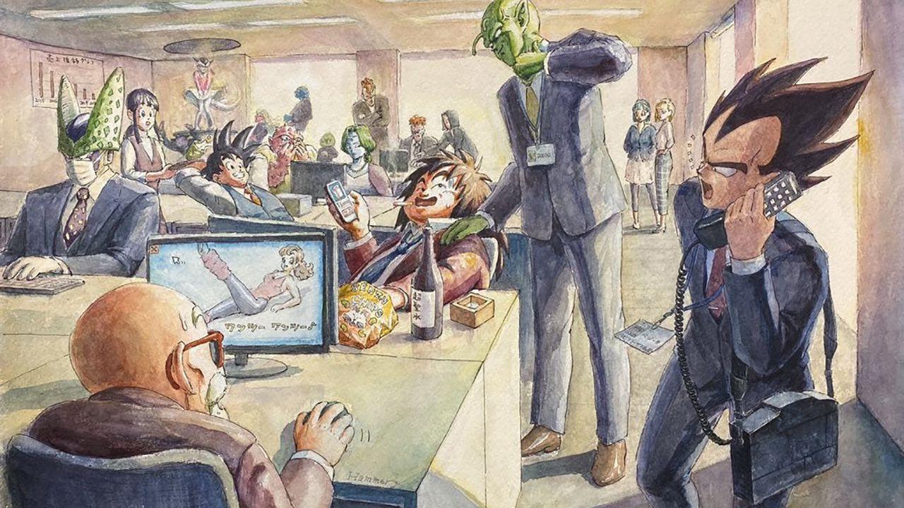 Un giorno in ufficio per i personaggi di Dragon Ball: Goku e gli altri diventano salaryman
