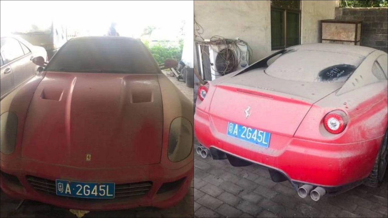 Una Ferrari 599 GTB Fiorano abbandonata sarà venduta per soli 250 dollari
