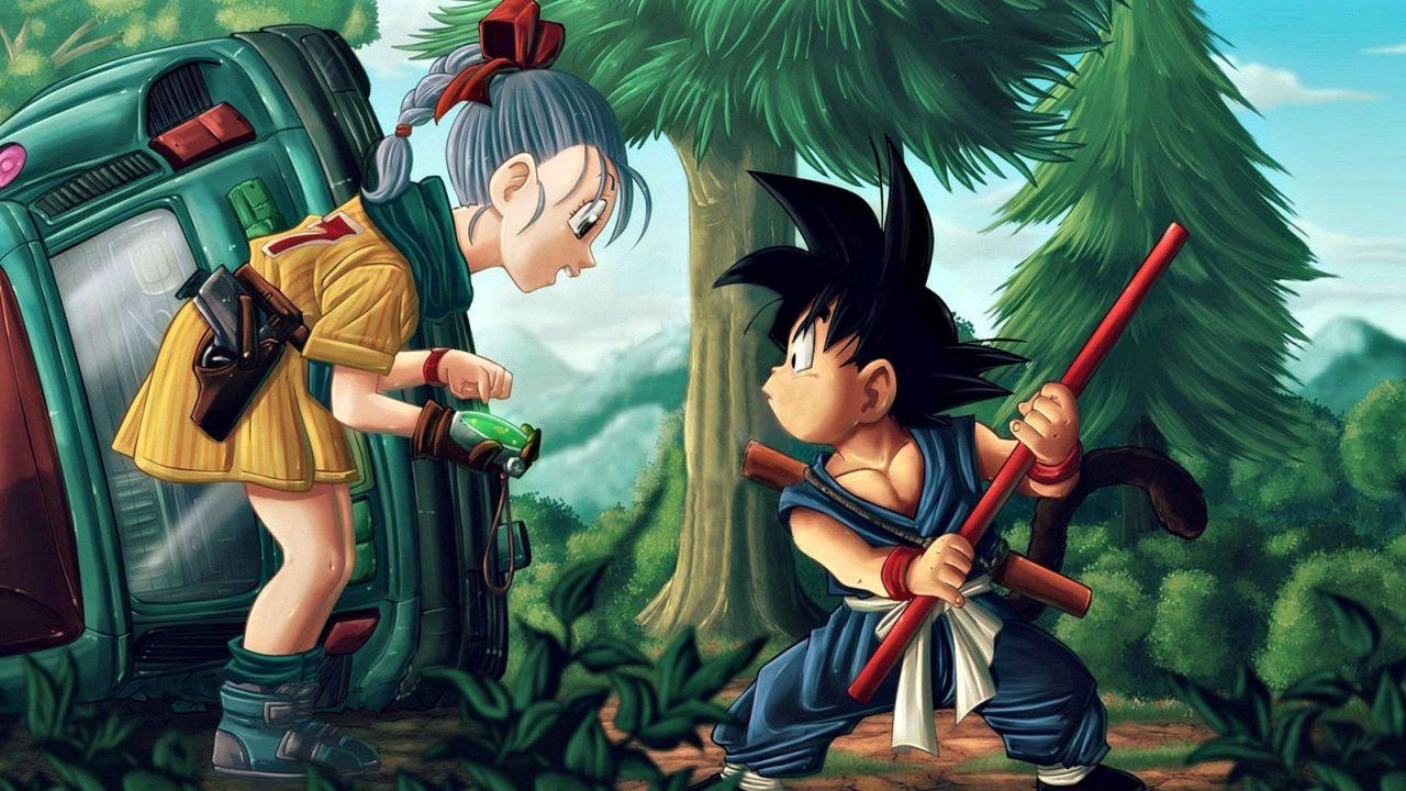 Una nostalgica fanart di Goku e Bulma ci riporta all'inizio del viaggio di Dragon Ball
