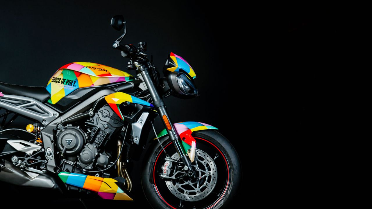 Una Triumph Street Triple RS protagonista del film DC Birds of Prey