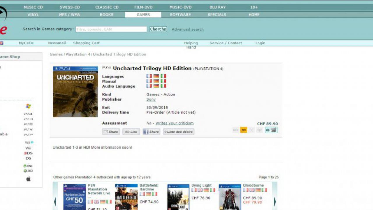 Uncharted 4: pubblicate nuove immagini