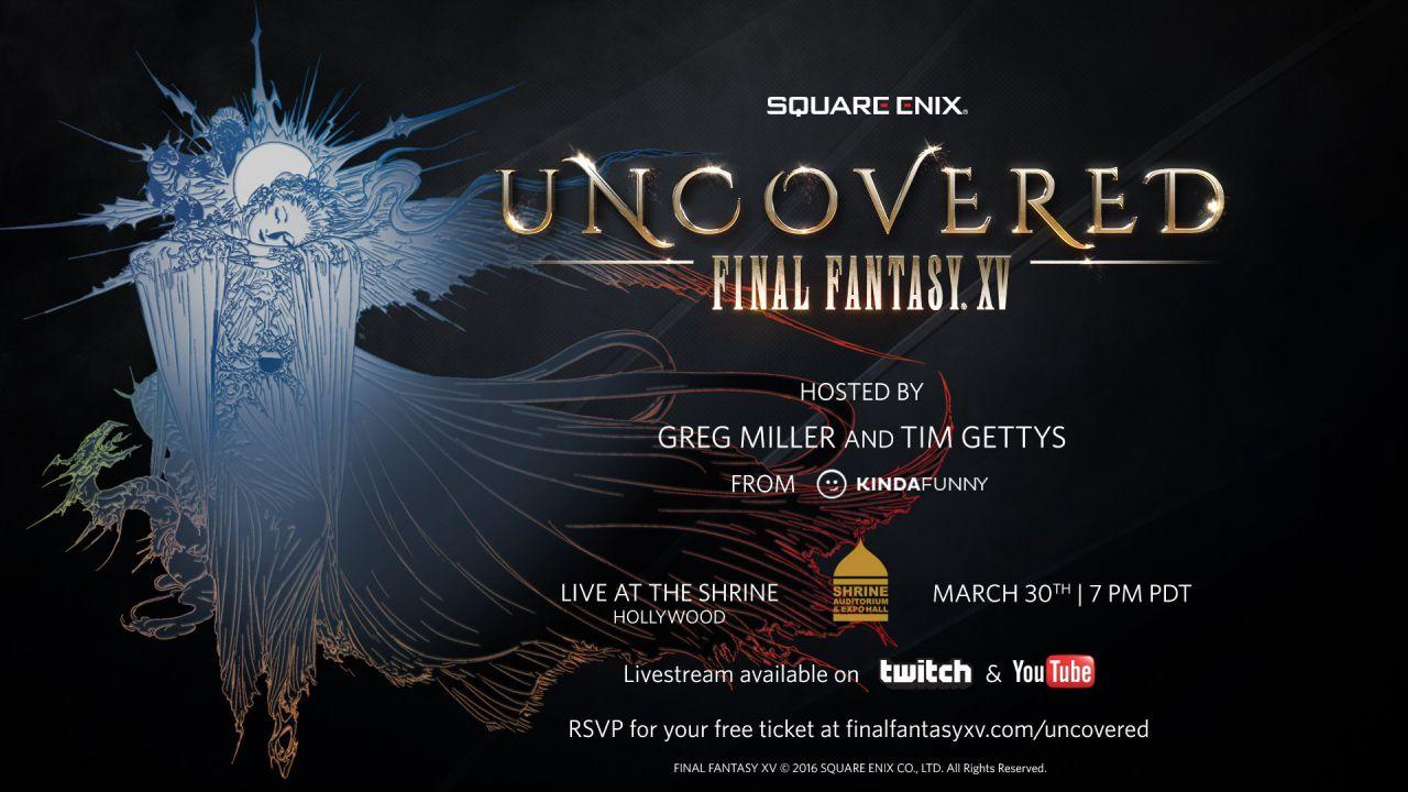 Uncovered Final Fantasy XV è stato seguito da 1,2 milioni di spettatori