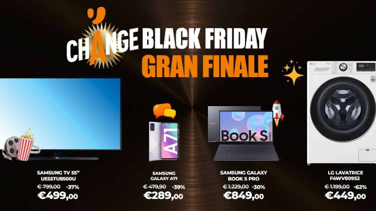Unieuro, parte il Gran Finale del Change Black Friday: sconti a partire dal 30%!