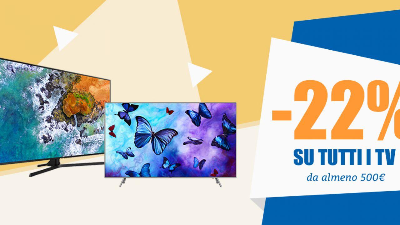 Unieuro, weekend No IVA sui televisori: sconti su Smart TV 4K, QLED ed OLED