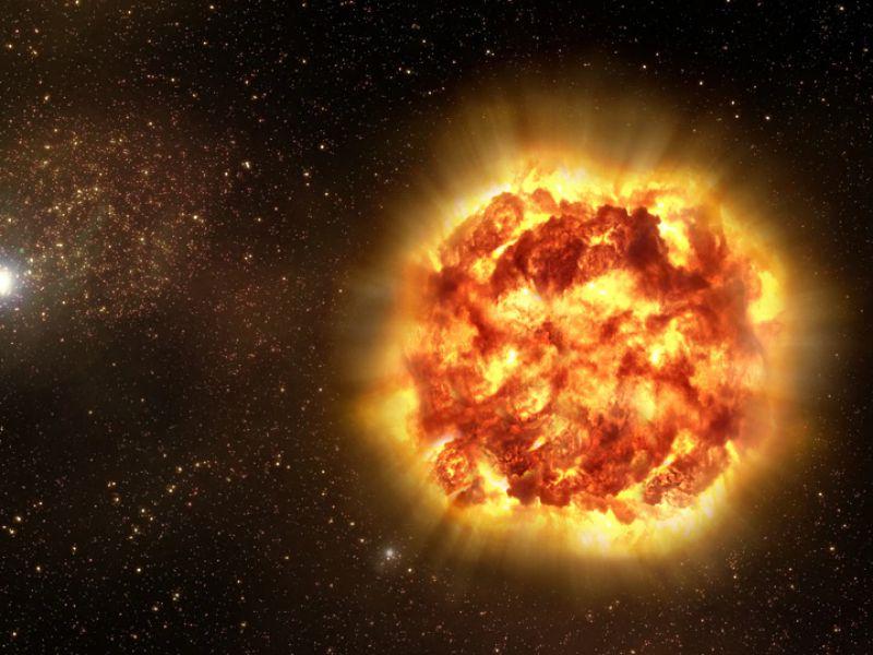 UY Scuti: la stella più grande dell'universo. Con un raggio 1708 volte quello del Sole