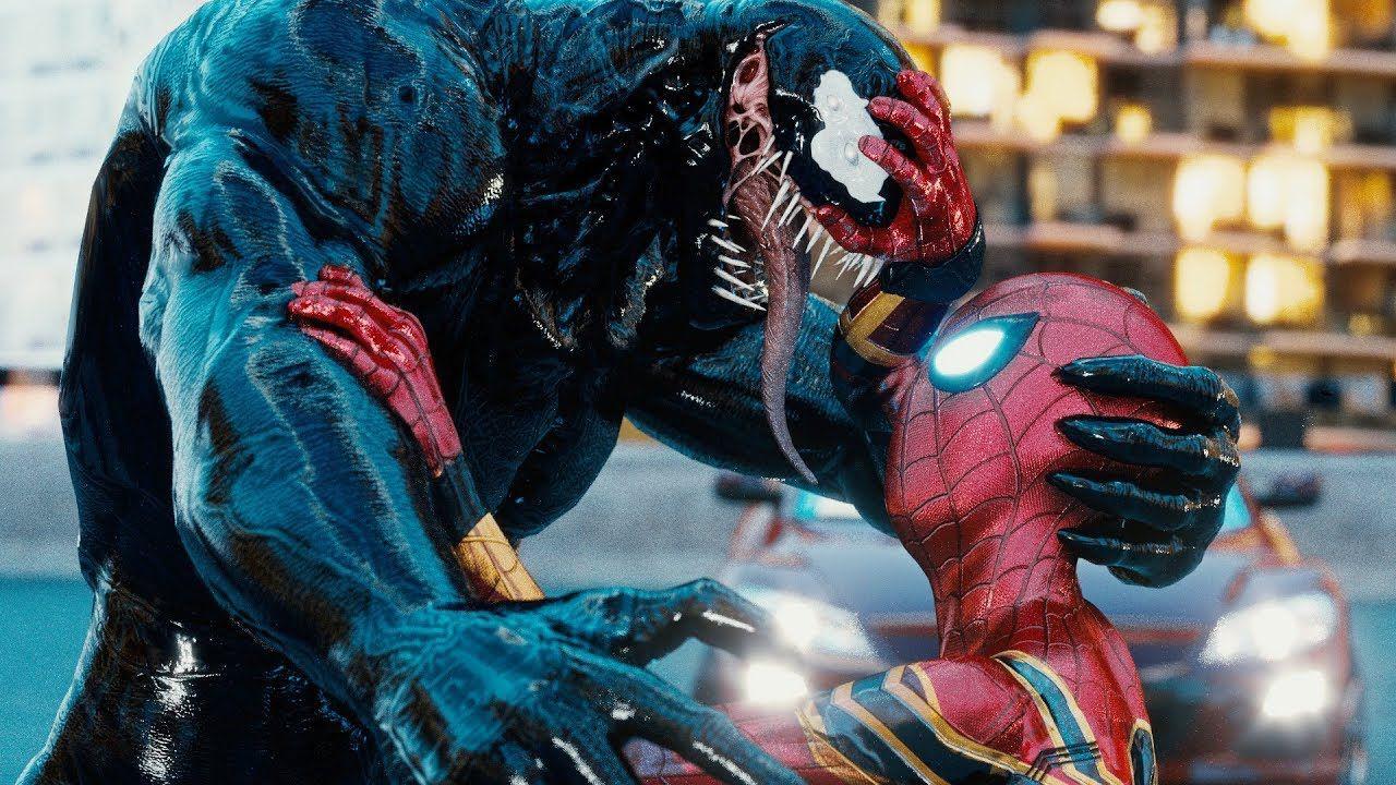 Venom: una fan-art mozzafiato immagina l'universo condiviso con Spider-Man