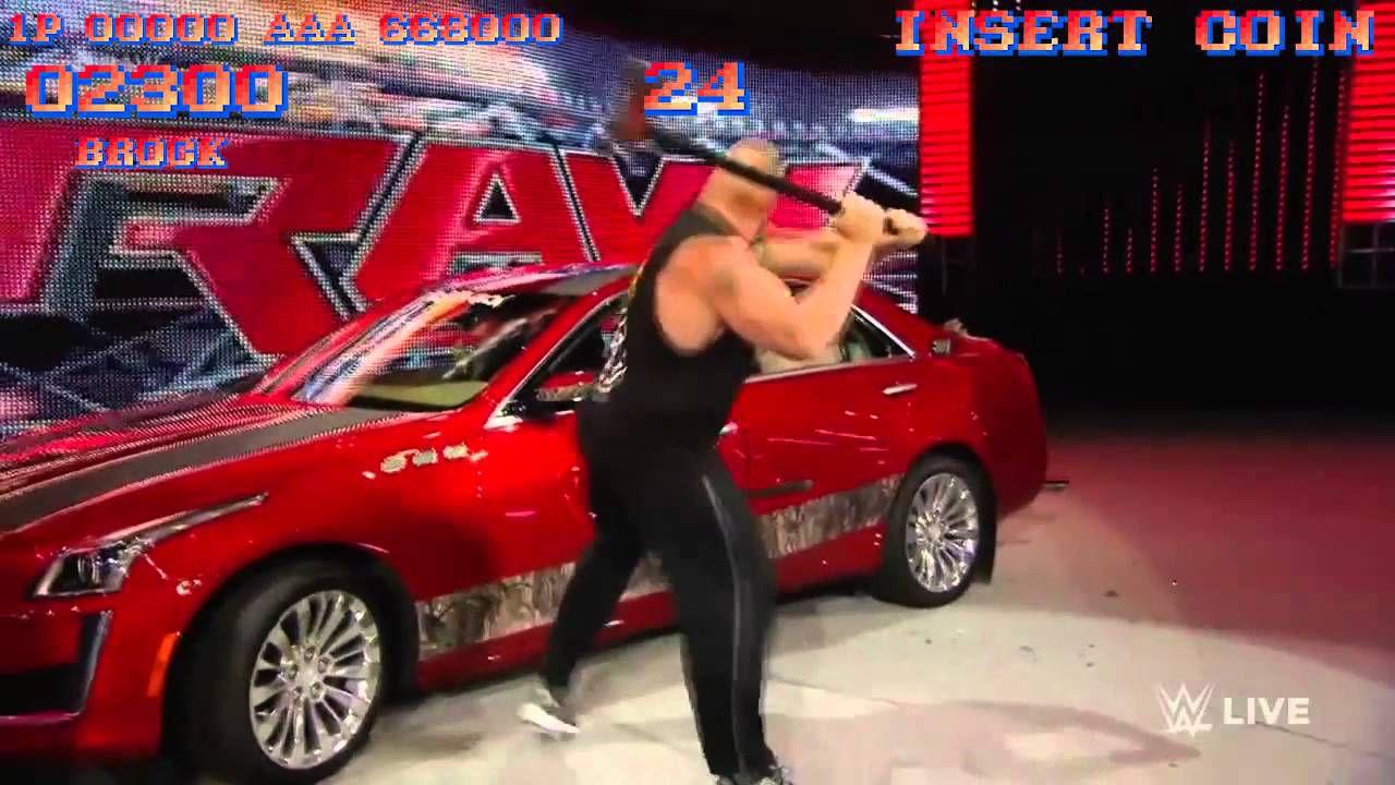 Video: Brock Lesnar distrugge un'auto in stile Street Fighter 2