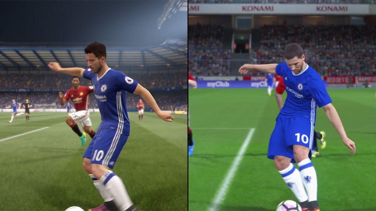 Video confronto tra FIFA 17 e Pro Evolution Soccer 2017