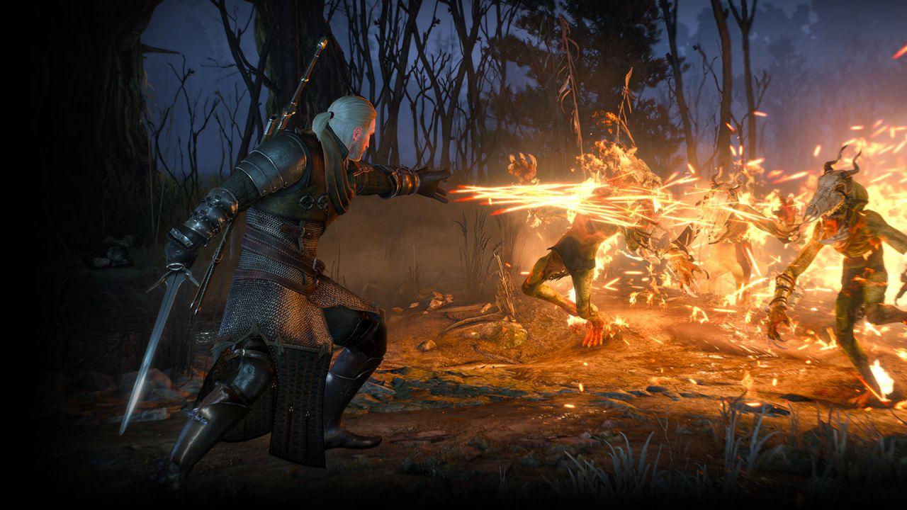 Video della versione PS4 di The Witcher 3 con day one patch installata