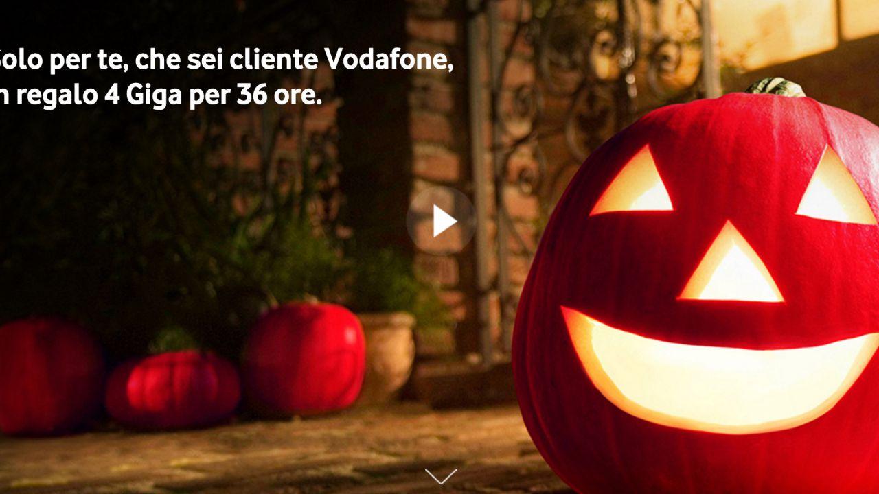 Vodafone Halloween 2016, 4 Giga gratis per 36 ore