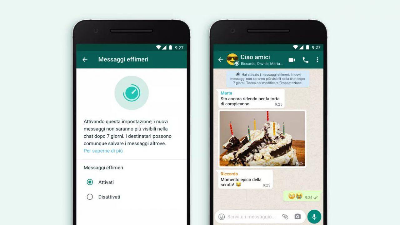 Whatsapp annuncia i messaggi che scompaiono dopo 7 giorni: ecco tutti i dettagli