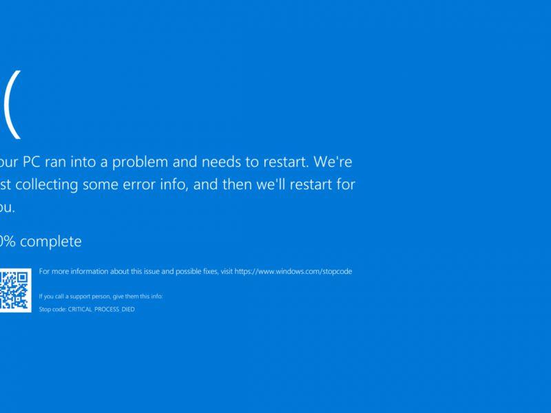 Windows 10: problemi di rete e BSOD dopo l'aggiornamento KB4556799
