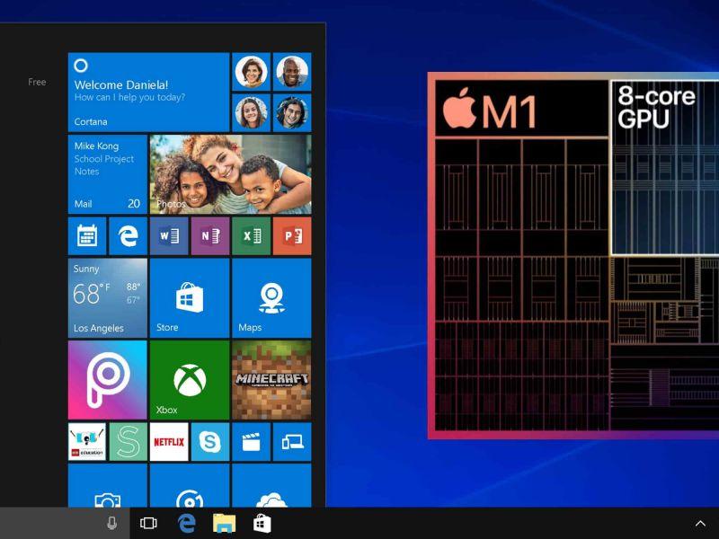 Windows 10 sarà utilizzabile nei Mac con chip M1? Dipende tutto da Microsoft