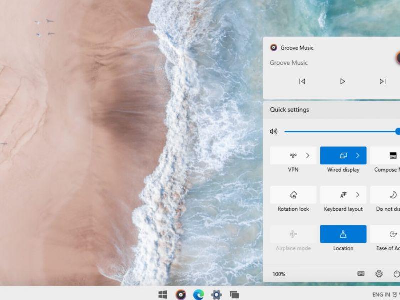 Windows 10X, ecco come sarà il nuovo Action Center rinnovato
