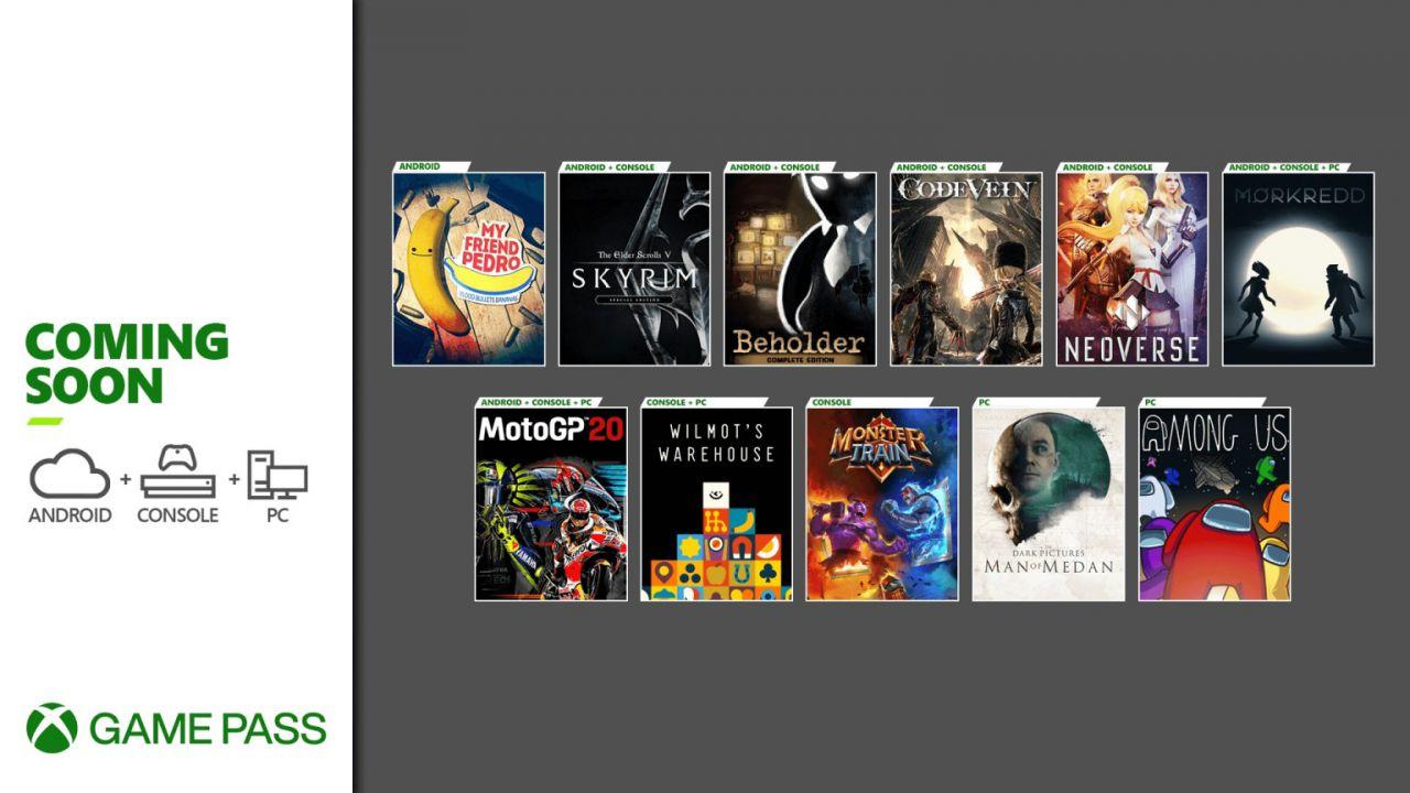 Xbox Game Pass: in arrivo Code Vein e Skyrim, ecco tutte le novità