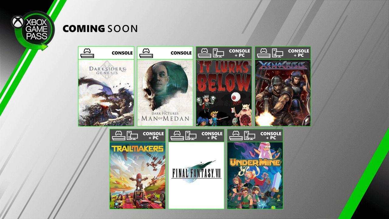 Xbox Game Pass: Darksiders Genesis e Final Fantasy 7 tra le novità di agosto 2020