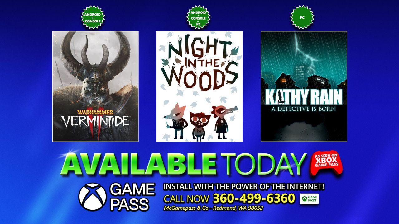 Xbox Game Pass: non solo DOOM Eternal, altri tre giochi disponibili ora