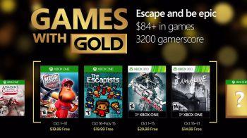 Xbox Games with Gold: annunciati i giochi gratuiti per il mese di ottobre