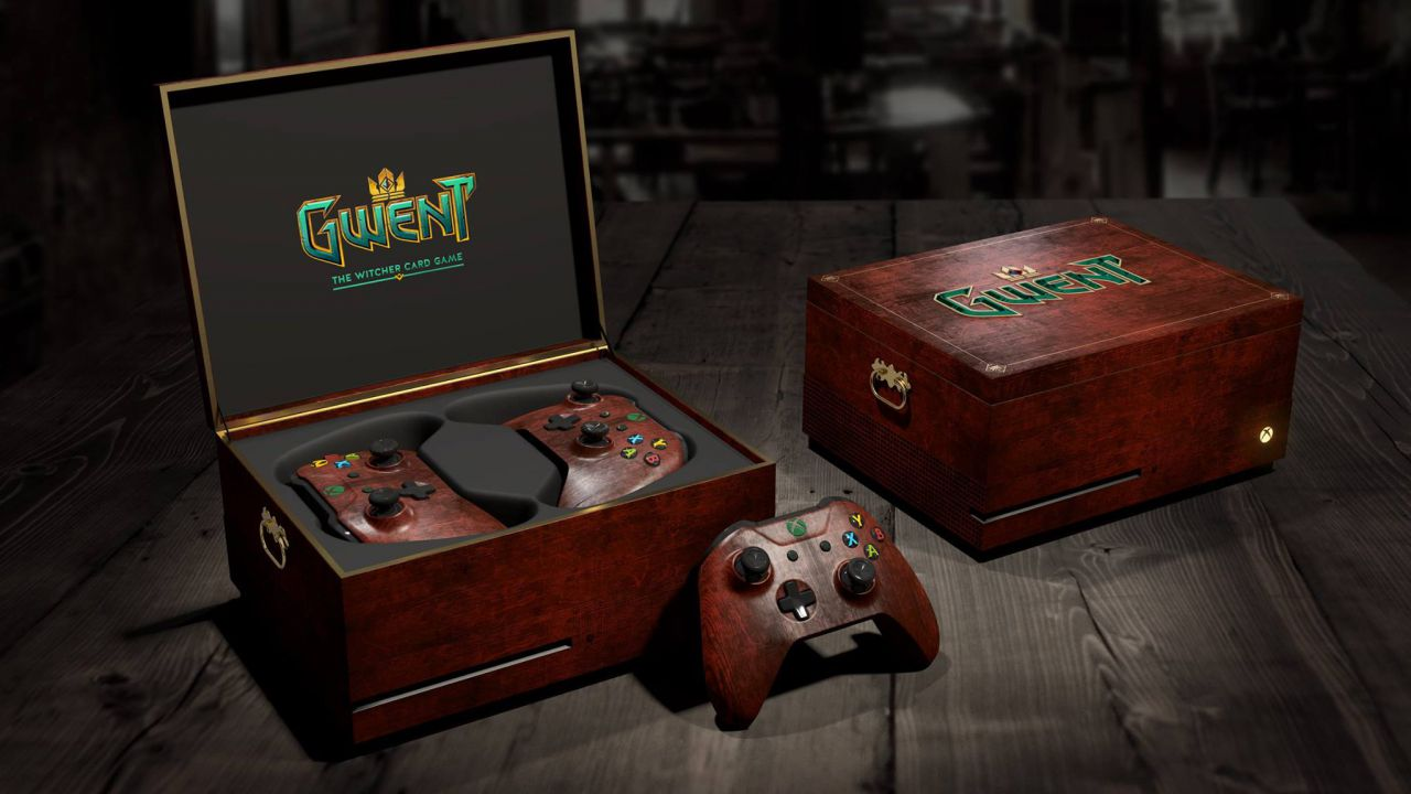 Xbox one personalizzata per gwent the witcher card game