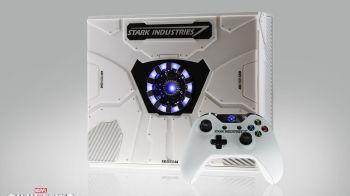 Xbox One personalizzata Stark Industries per promuovere il lancio di Captain America Civil War