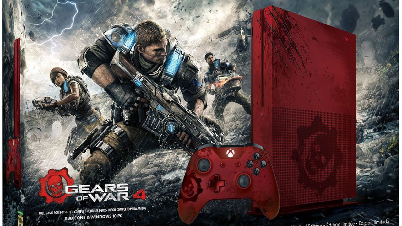 Xbox One S Gears of War 4 Edition si mostra in immagini e video