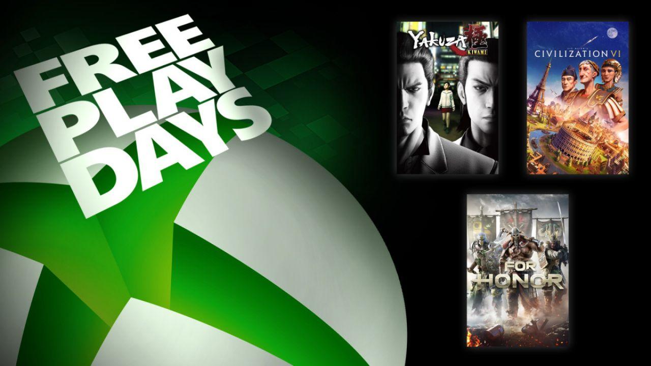 Xbox One: tre giochi gratis questo weekend da provare subito