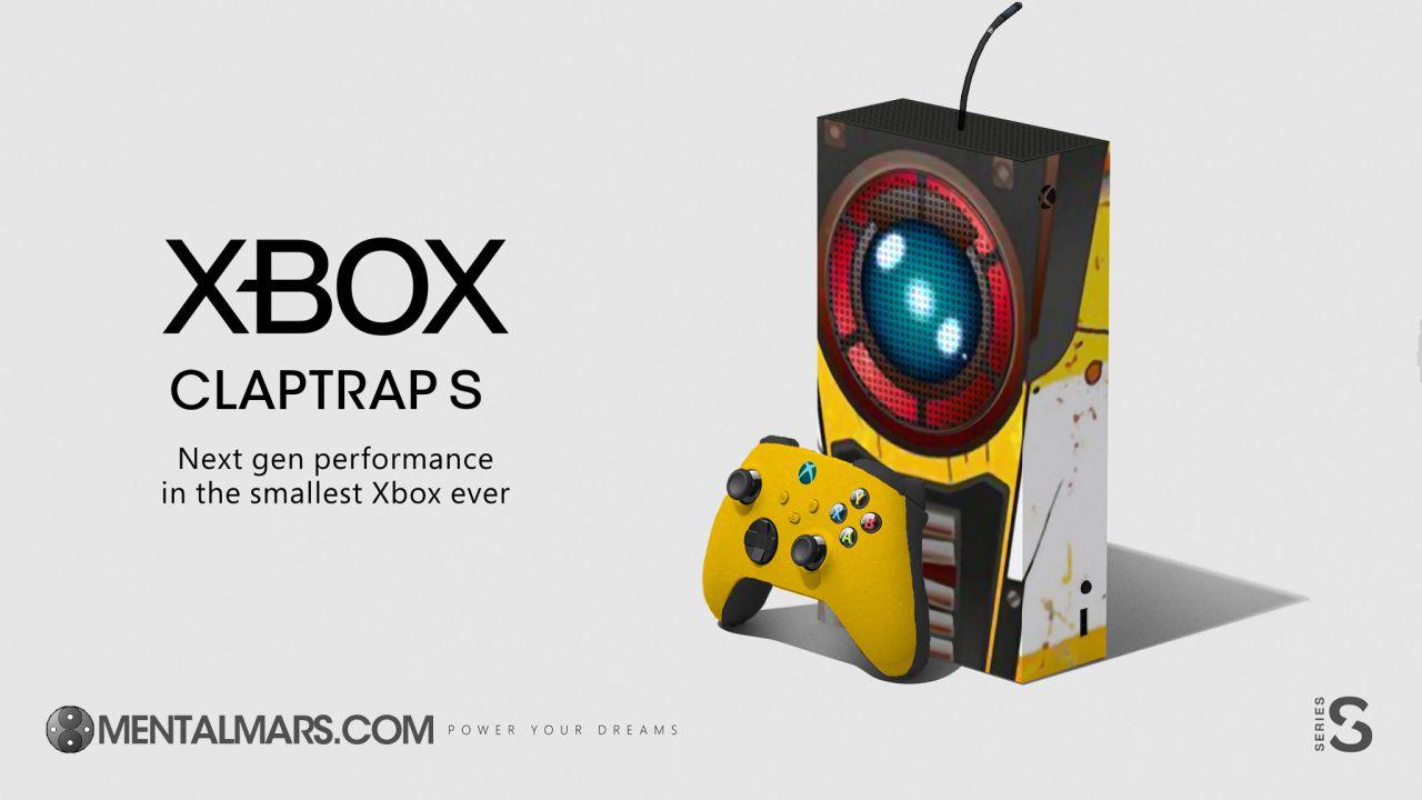 Xbox Series S: un design amatoriale trasforma la console in Claptrap