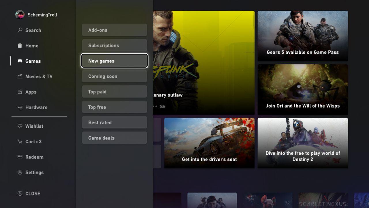 Xbox Store: ecco come provare in anteprima la nuova interfaccia