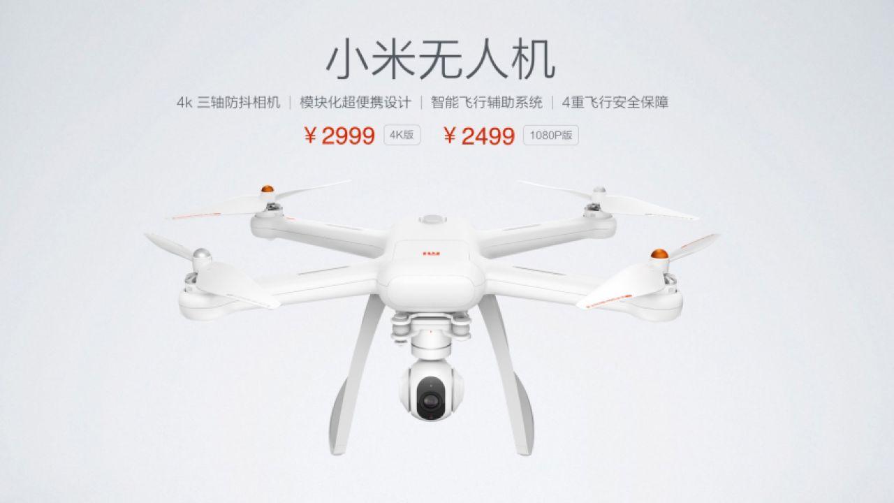 Xiaomi svela il quadricottero Mi Drone, a partire da 350€