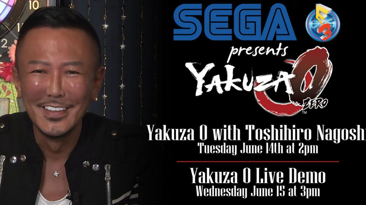 Yakuza 0 sarà presente all'E3 2016 con una demo