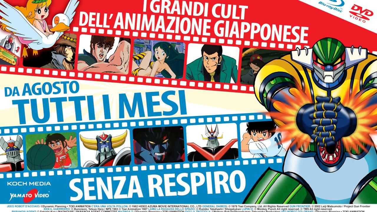 Yamato Video e Koch Media porteranno in Blu-Ray e DVD tanti cult anime, da Ken a Lupin III