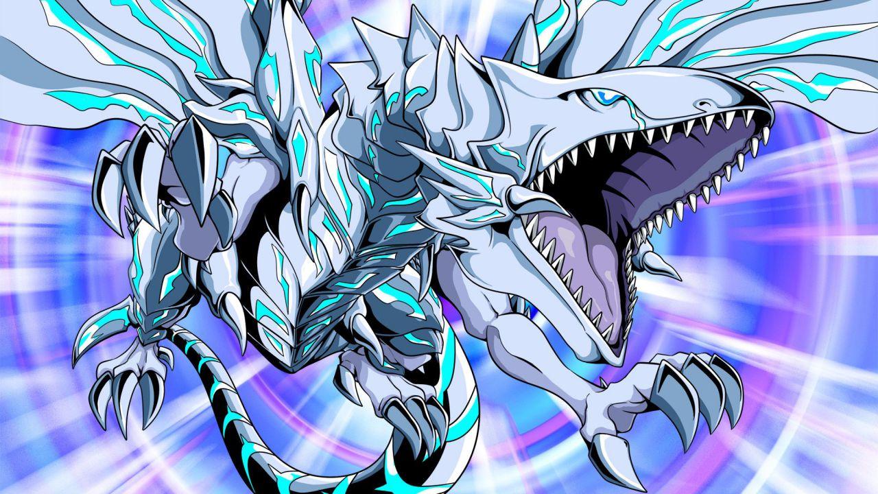 Yu-Gi-Oh!: il devastante Drago Bianco Occhi Blu si scatena in una statua da collezione